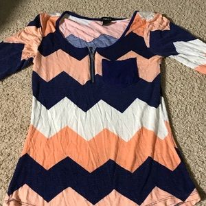 Rue 21 chevron 3/4th sleeve top